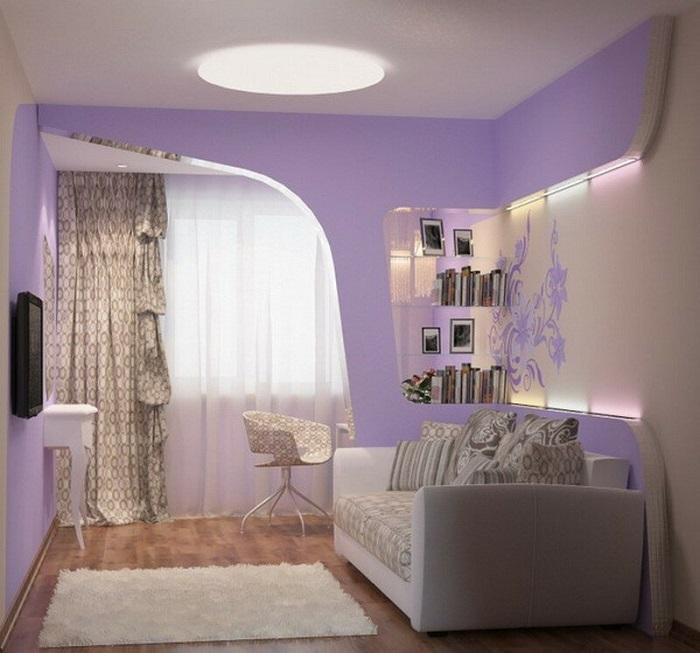 Не вся мебель в крохотной комнате должна быть маленькой. / Фото: Ciscoexpo.ru