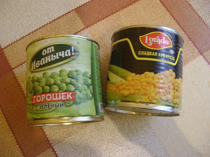 Кукуруза и зеленый горошек. / Фото: Darudar.org