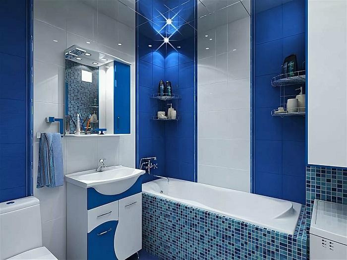 Синий цвет популярный в скандинавских интерьерах. / Фото: Designmyhome.ru