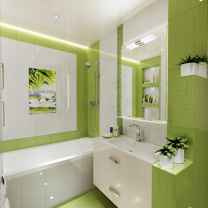 Зеленый цвет освежит комнату. / Фото: Designstil.info