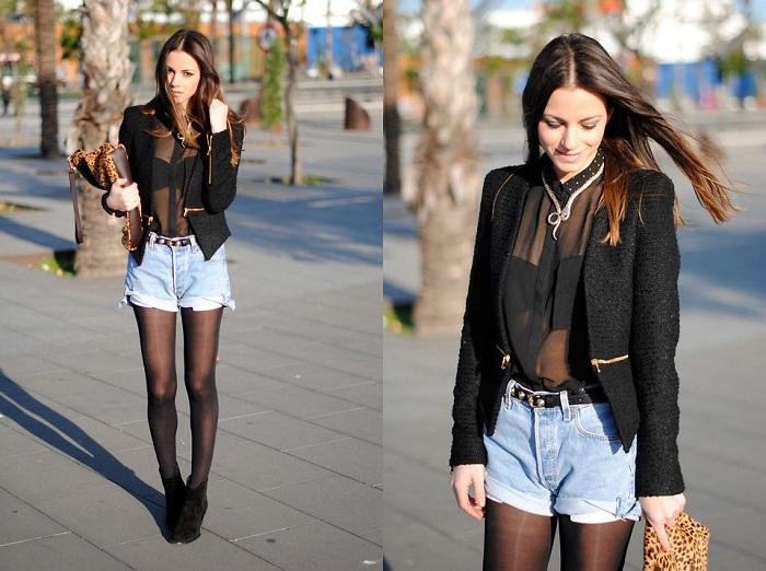 Прозрачная блуза смотрится вульгарно. / Фото: Evagirl.ru