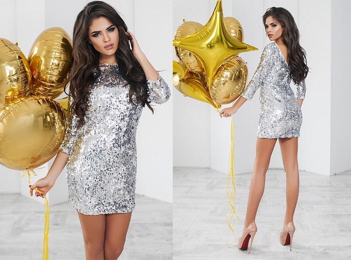 Блестящее платье не является универсальным. / Фото: Fabrika-mody.ru
