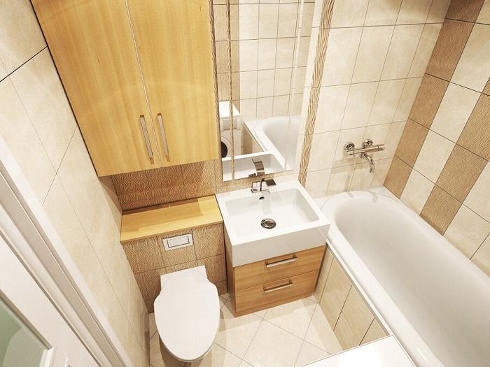Для оформления ванной нужно выбирать компактную мебель. / Фото: Freelancehack.ru