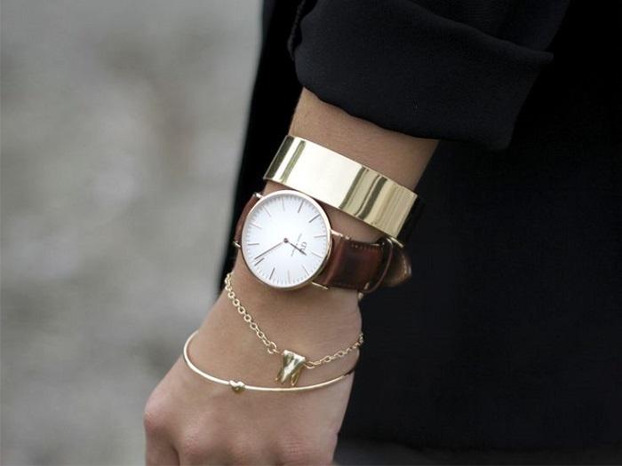 Часы делают запястье хрупким и женственным. / Фото: Glamusha.ru