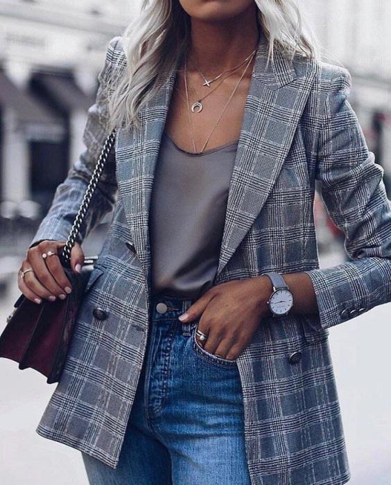 Пиджак является идеальным дополнением наряда в любом стиле. / Фото: Id.pinterest.com