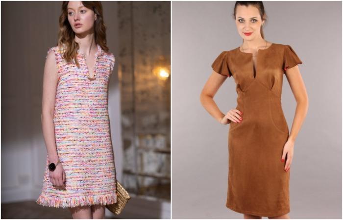 Подобные платья плотные, но при этом выглядят изысканно