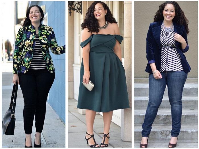 Девушки с полными бедрами могут носить разнообразную одежду