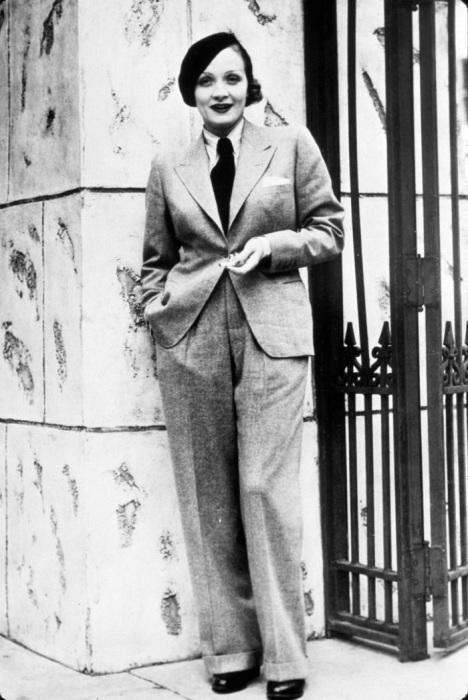 Марлен Дитрих в мужском костюме. / Фото: Lady-4-lady.ru