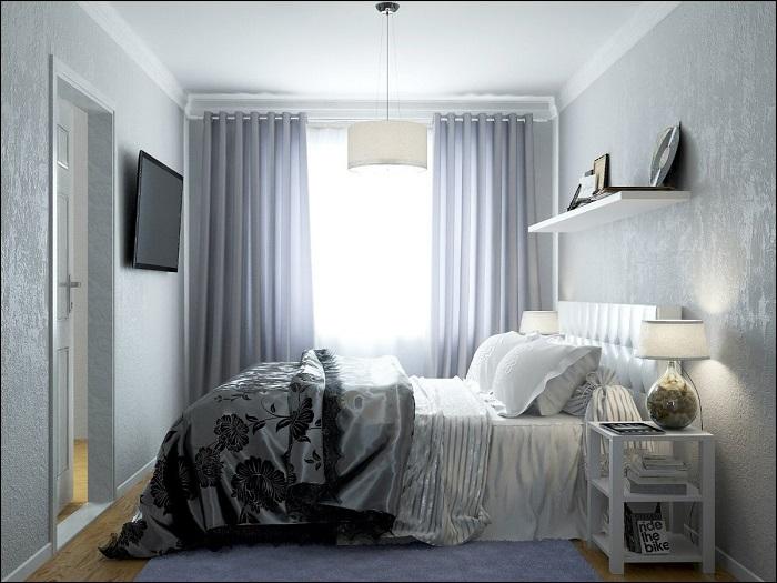Кровать должна быть главным акцентом в комнате. / Фото: Mebelnavolge.ru