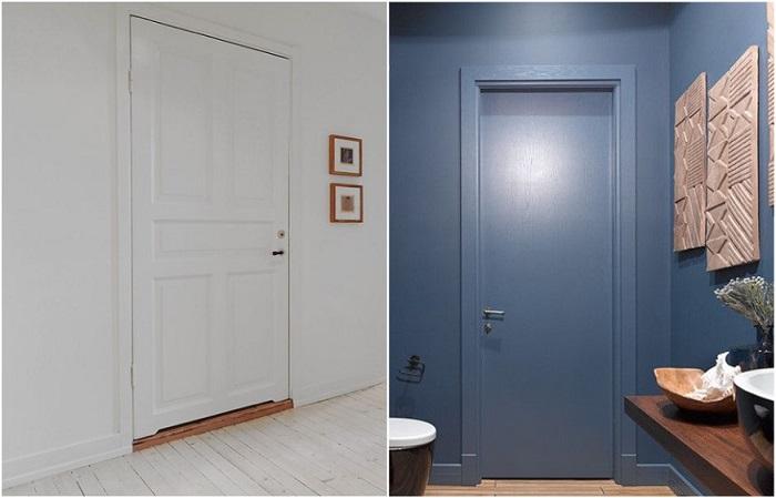Двери сливаются с пространством и становятся незаметными