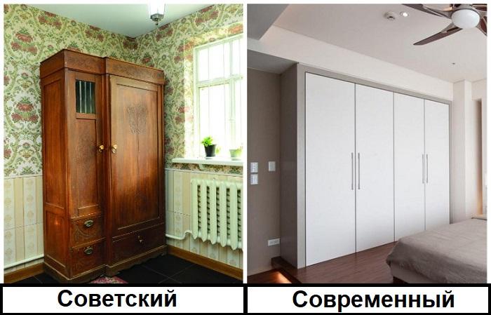 На смену советскому шкафу должен прийти встроенный современный экземпляр
