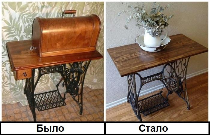 Швейную машинку можно трансформировать в столик