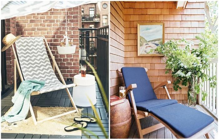 Установив шезлонг или лежак, на балконе удобно загорать