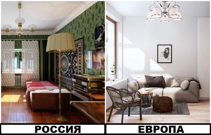 Россияне считают, что большое количество узоров делают интерьер красивее