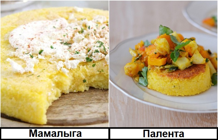 Мамалыга и полента могут быть как самостоятельным блюдом, так и гарниром