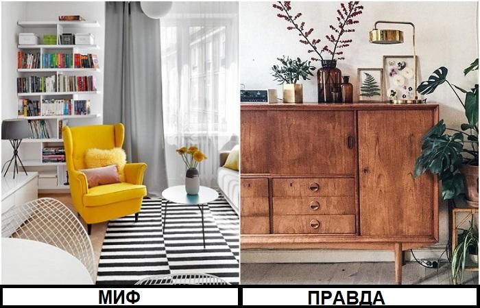 Мебель из ИКЕА дополняется винтажными предметами