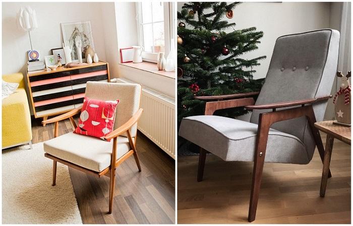 Советские кресла выглядят очень легко и не загромождают пространство