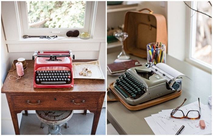 Печатная машинка может быть яркой или нейтральной