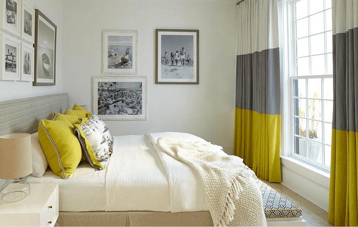 Яркий текстиль освежает интерьер. / Фото: Pinterest.fr