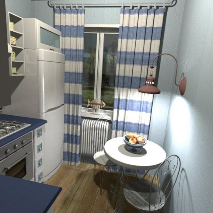 Синий цвет выступит акцентом в интерьере. / Фото: Remontt.net