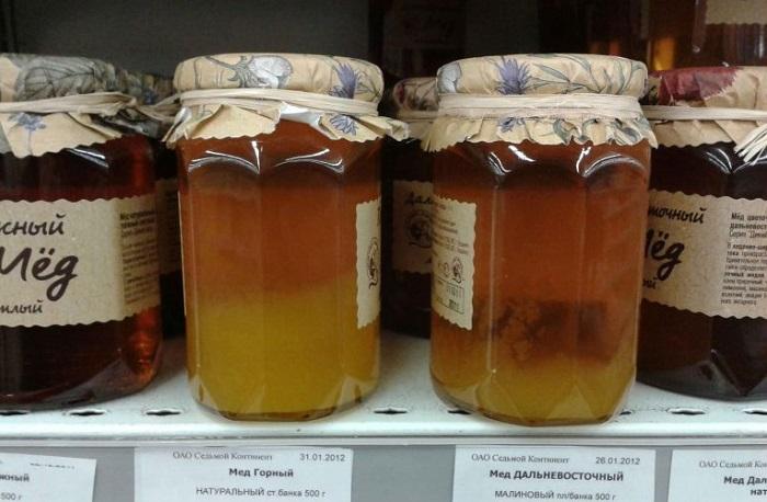 Два слоя у меда свидетельствуют о подделке. / Фото: Usp72.ru
