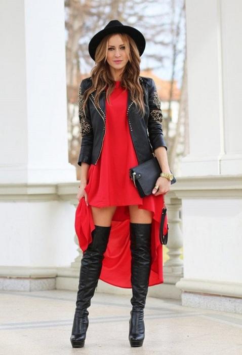 Красный с черным всегда смотрятся очень выигрышно. Women-tusovka.ru