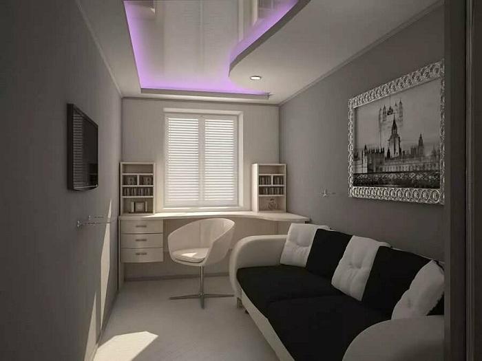 Мебель стоит вдоль разных стен, а не вдоль одной. / Фото: Zen.yandex.by