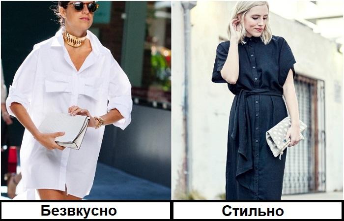 Вместо удлиненной рубашки выберите полноценное платье миди