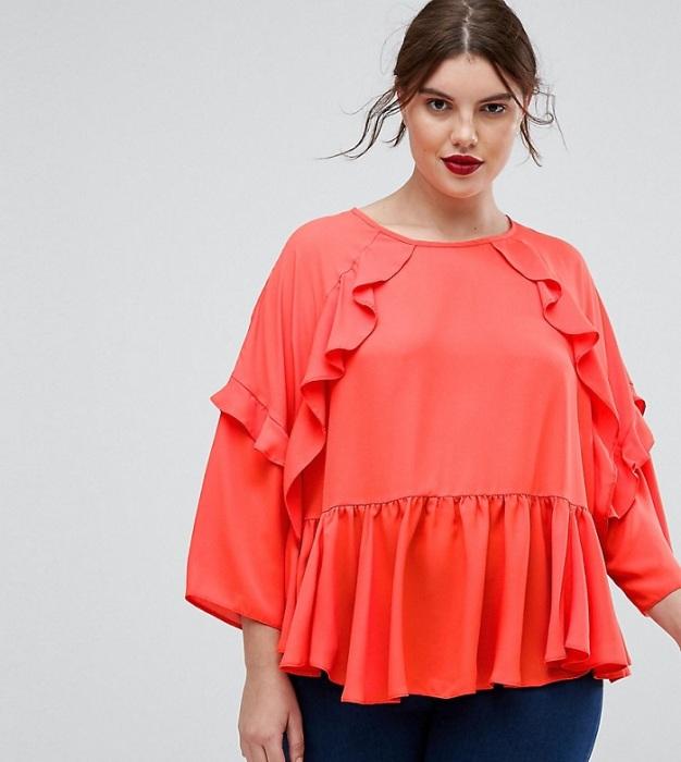 Блуза с оборками увеличивает пропорции. / Фото: asos-media.com