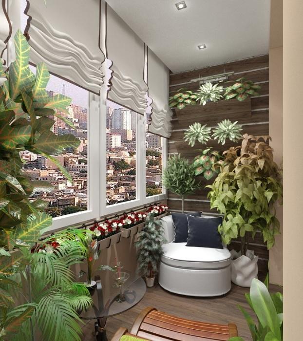 На лоджии можно выращивать комнатные растения. / Фото: balkonoved.ru