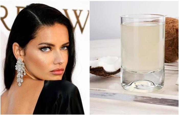 Адриана Лима использует кокосовую воду вместо тоника