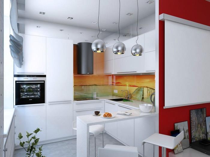 Для хай-тека характерны металлические строгие светильники. / Фото: remontt.net