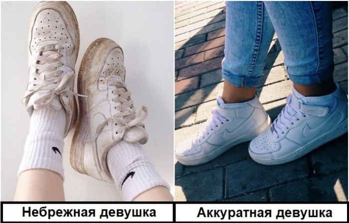 За кроссовками нужно тщательно ухаживать