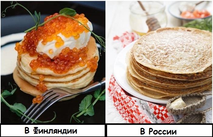 В мире русскими блинами называют финские оладьи с икрой
