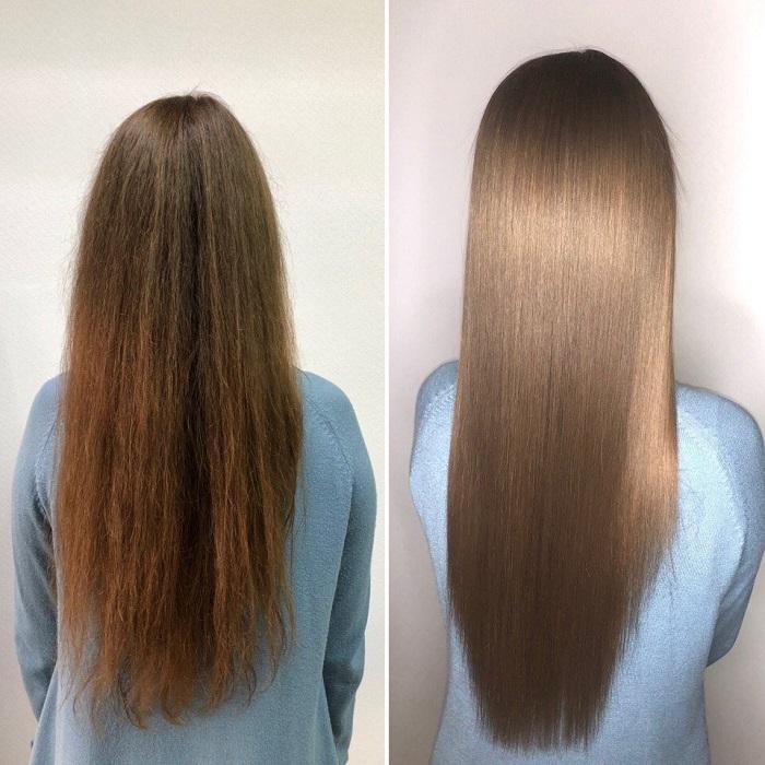 Волосы до и после ботокса. / Фото: wooinfo.ru