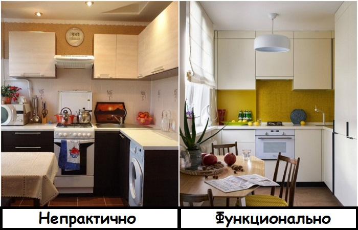 Высокие шкафы особенно актуальны на маленькой кухне, где не хватает места для хранения