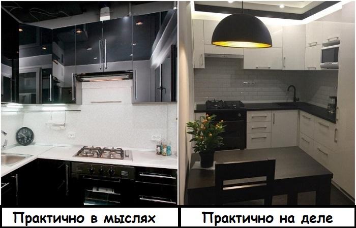 Вопреки стереотипам, белые кухни менее маркие, чем черные
