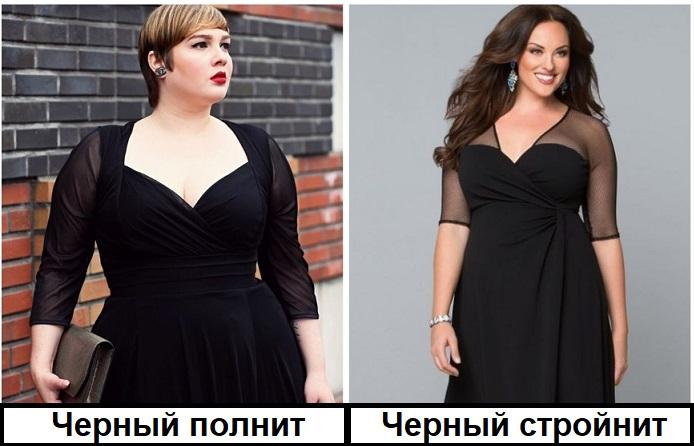 Платье одного и того же фасона по-разному смотрится на девушках