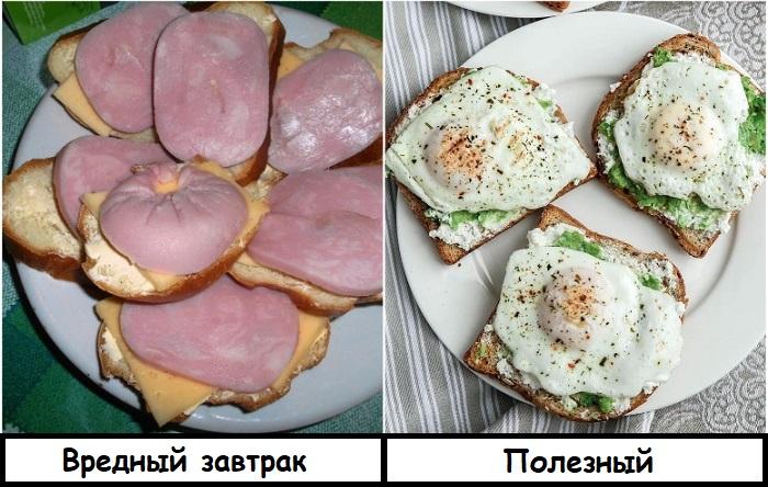 Вместо бутерброда с колбасой приготовьте тост с яичницей