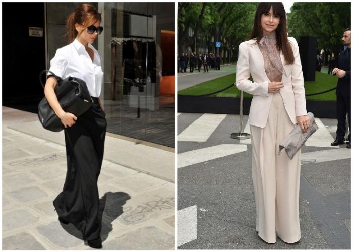 Мирослава Дума и Виктория Бекхэм любят длинные брюки