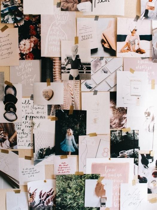 Мудборд - это доска настроения или вдохновения. / Фото: pinterest.ru
