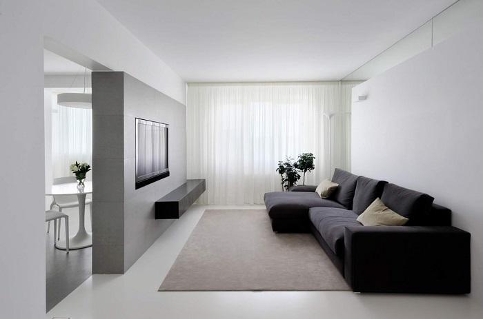 Чистый минимализм выглядит серо и скучно. / Фото: design.radidomapro.ru