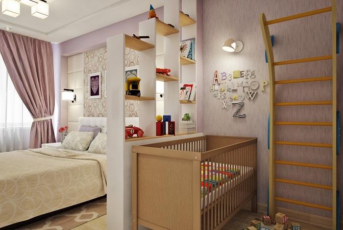 Отгородите детскую комнату от спальни родителей. / Фото: dexpert.ru