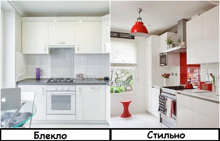 Белая кухня без акцентов выглядит скучно