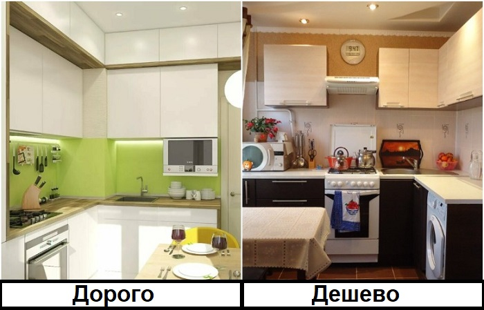 Шкафчики до потолка стоят дороже и сложнее в установке