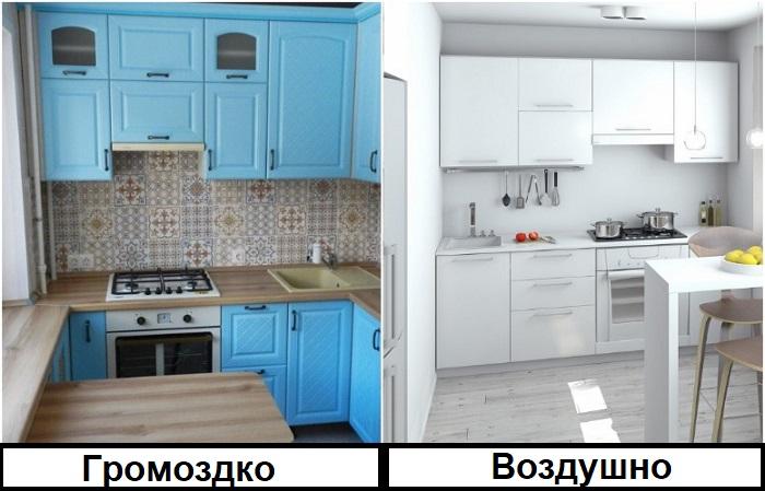Шкафчики под потолок уместны в современных стилях интерьера