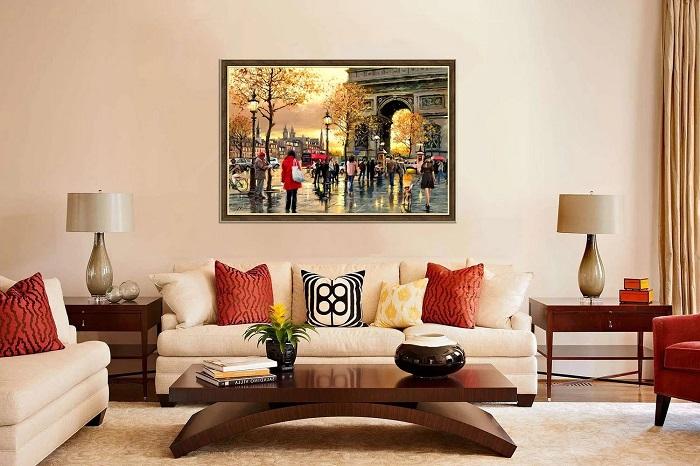 Картина украсит стену и дополнит интерьер. / Фото: dizajn-gostinoj.com