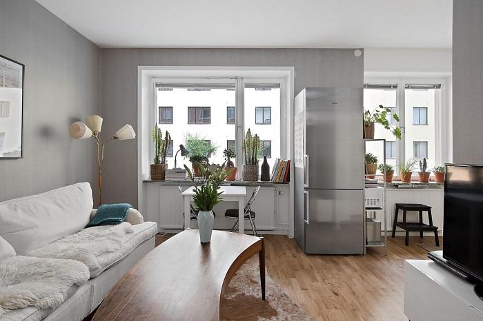 В комнате без шкафов и полок сложно поддерживать порядок. / Фото: happymodern.ru