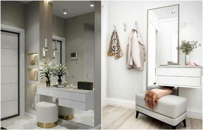 Зеркало может быть классическим в рамке или как стена