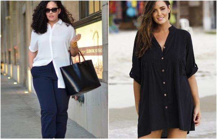 Удлиненные рубашки и модели в виде платья сейчас на пике популярности